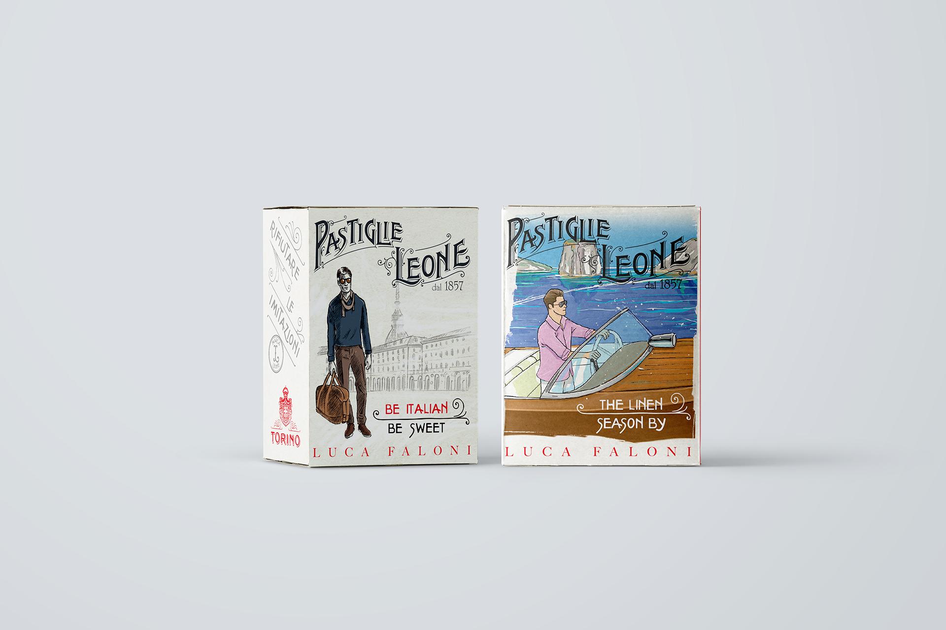 Luca Faloni custom boxes / Pastiglie Leone