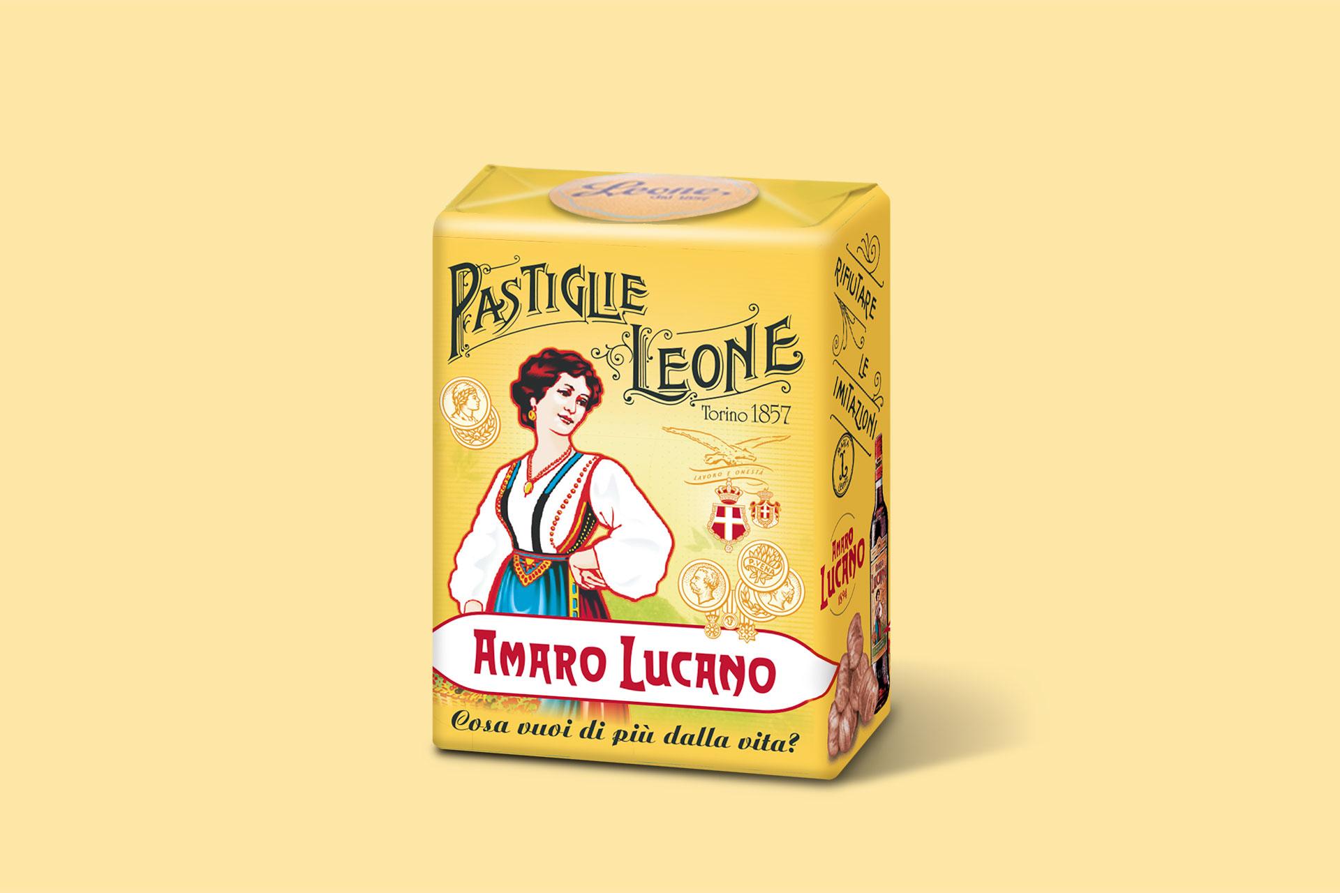 Amaro Lucano Custom box - Pastiglie Leone