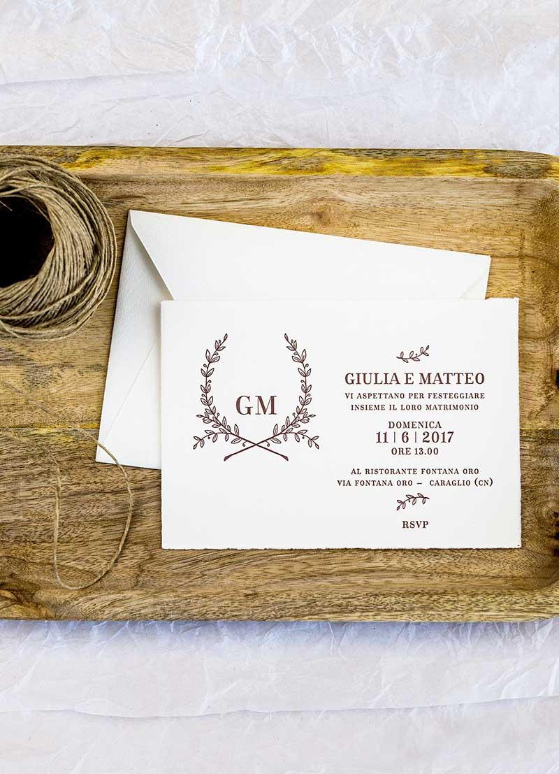 Wedding invitations / Messaggerie Subalpine