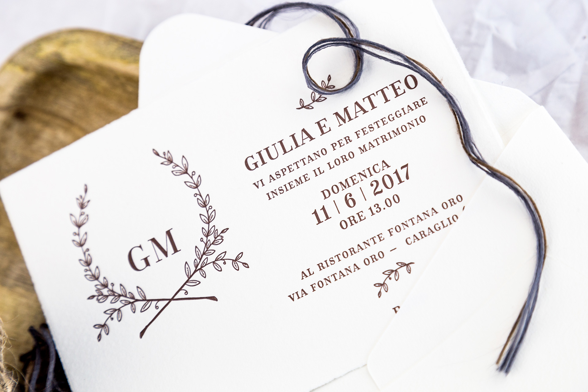 Wedding invitations / Messaggerie Subalpine