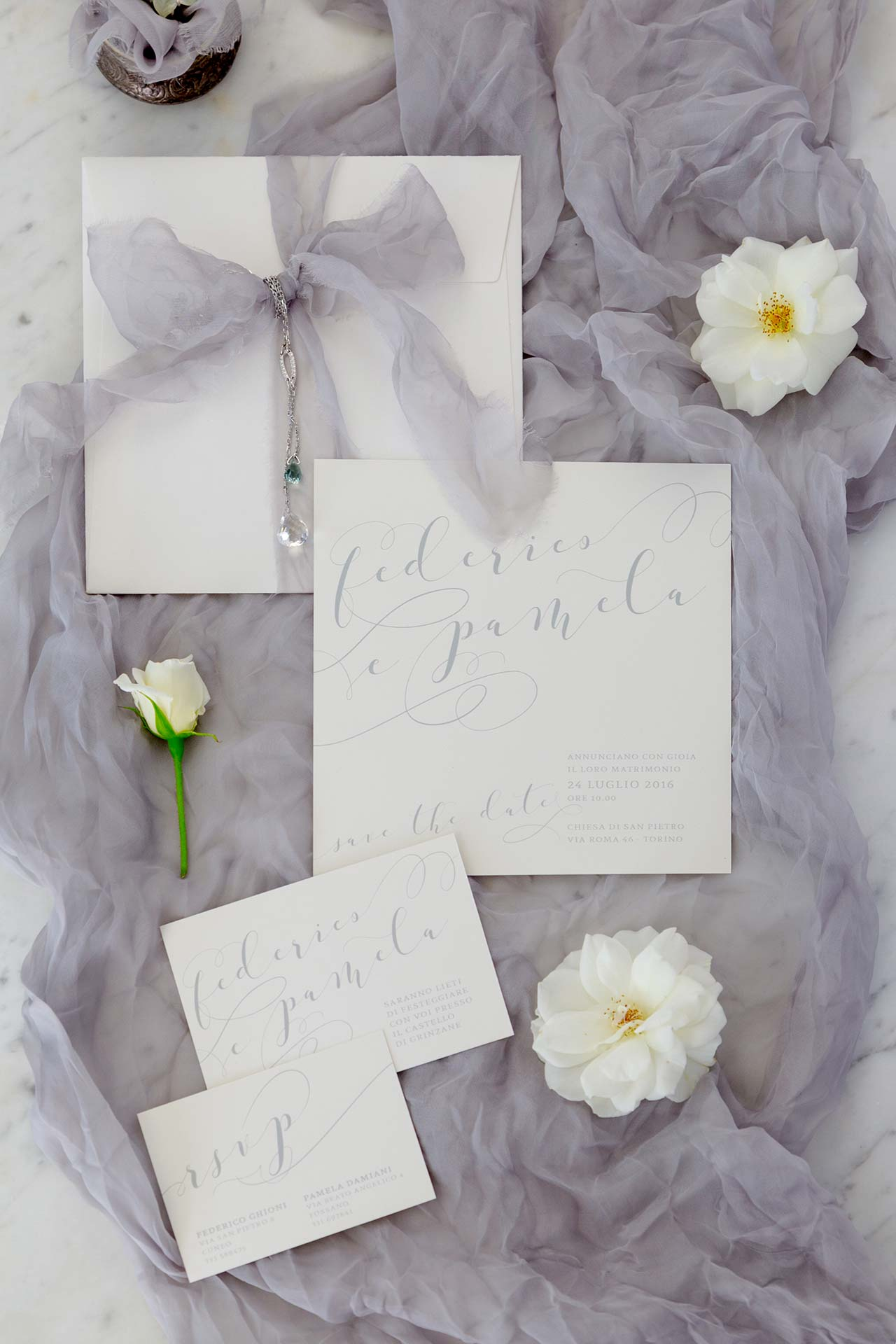 """Douce calligraphie"" wedding suite"