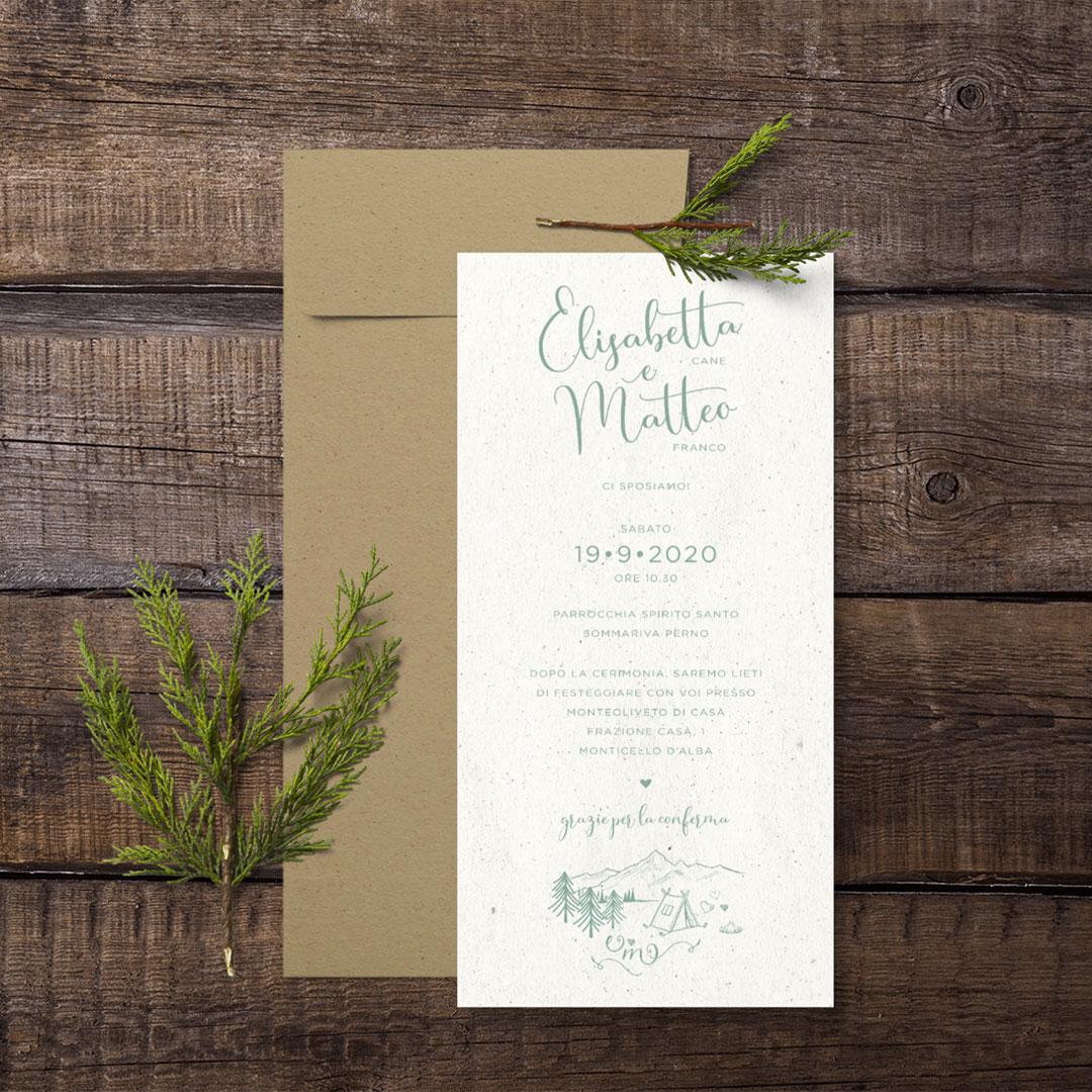 E + M Wedding Invitation
